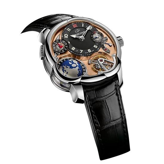 高铂富斯5N红金机芯GMT陀飞轮腕表
