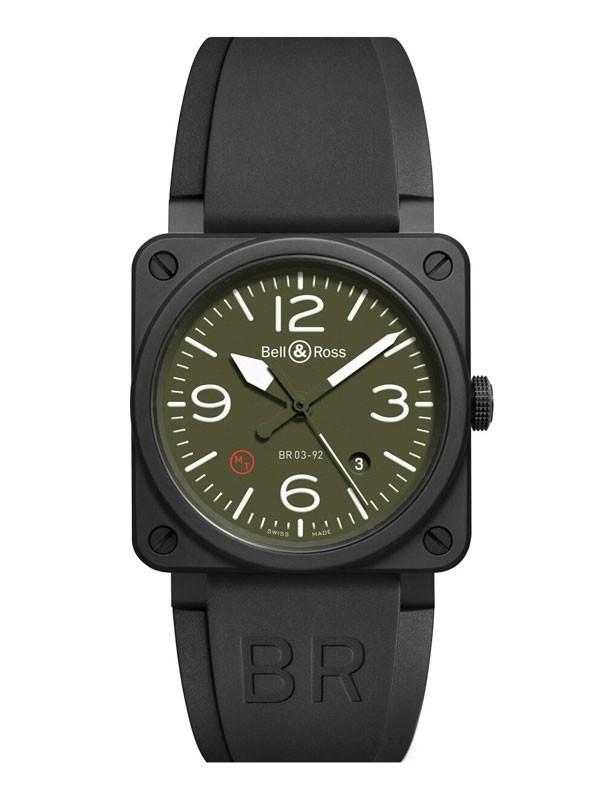 柏莱士推出BR03-92陶瓷腕表纯正军用款
