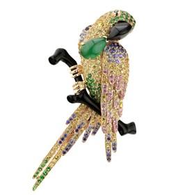 MONETA珠宝的品牌象征——金刚鹦鹉 剔透玲珑,栩栩如生