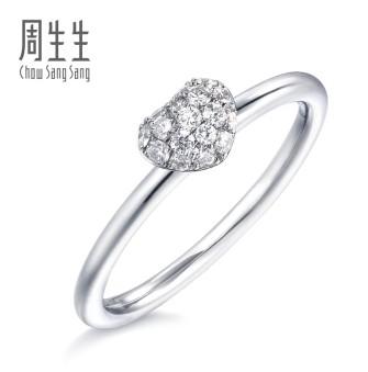 18K钻石多少钱一克?为你介绍周生生18K心型钻石戒指的价格