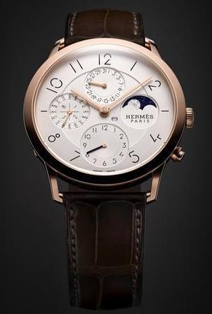 爱马仕Slim d'Hermès系列万年历腕表