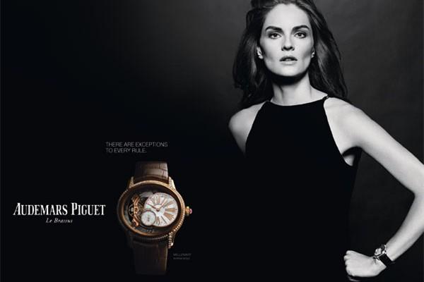超模阿努克代言爱彼表全新千禧系列女装腕表
