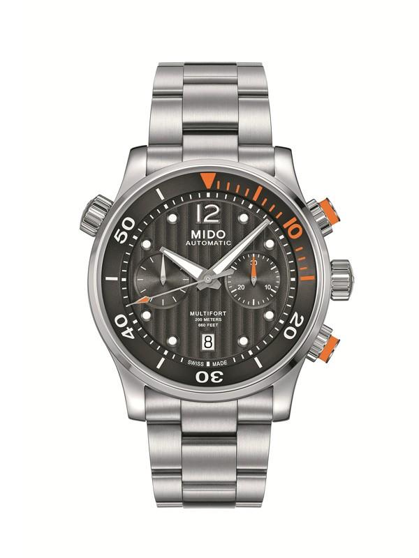 美度表舵手系列60小时动力储存多功能潜水计时腕表