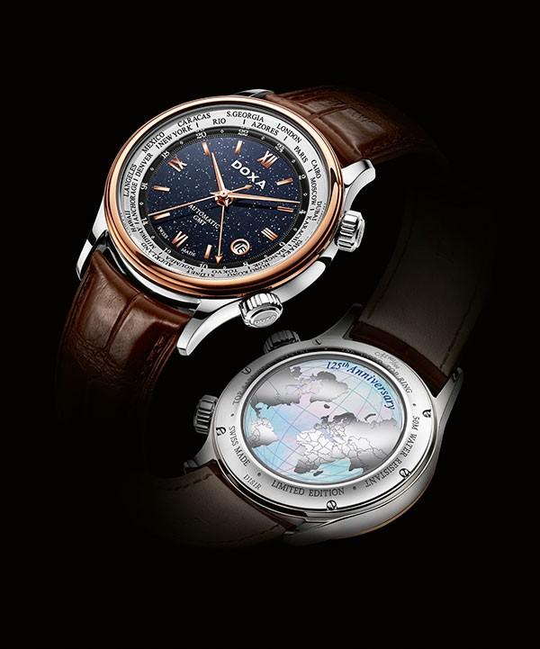 125周年时度蓝色星空GMT限量版腕表 设计浪漫唯美
