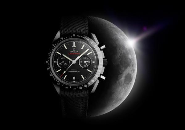 欧米茄超霸系列「月之暗面」黑色陶瓷腕表