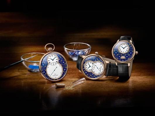 雅克德罗金箔雕花珐琅系列腕表 与典雅高贵完美邂逅