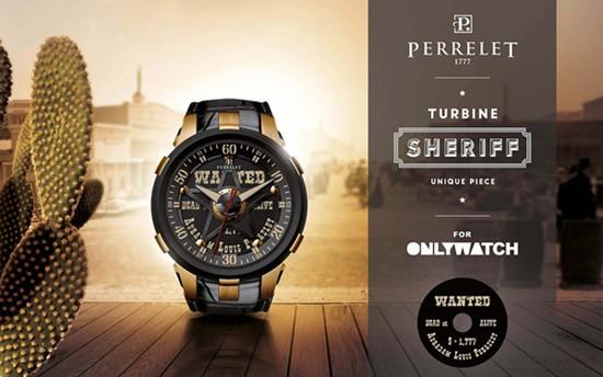 伯特莱为「Only Watch」设计Turbine Sherif涡轮警长腕表
