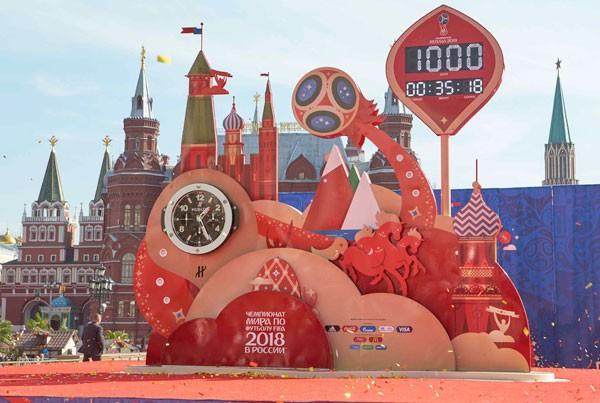 宇舶表揭幕2018俄罗斯世界杯官方倒计时钟