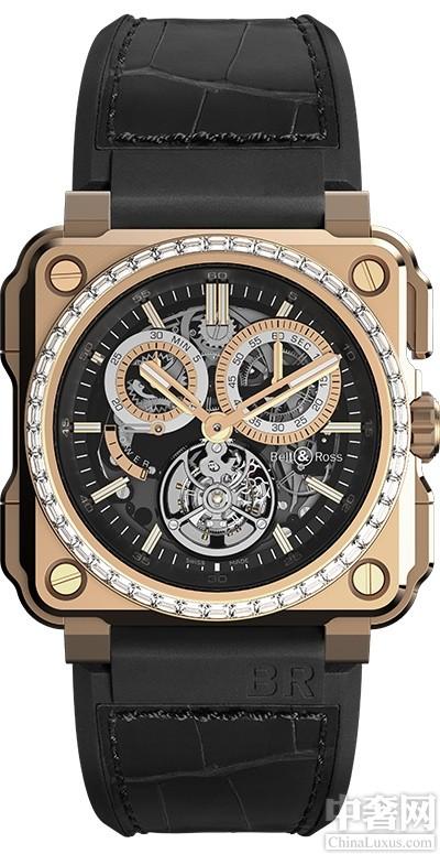 柏莱士BR-X1陀飞轮计时码表 绝非一般的腕表