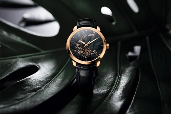 雅典表Classico鎏金系列推出鎏金灵猴腕表