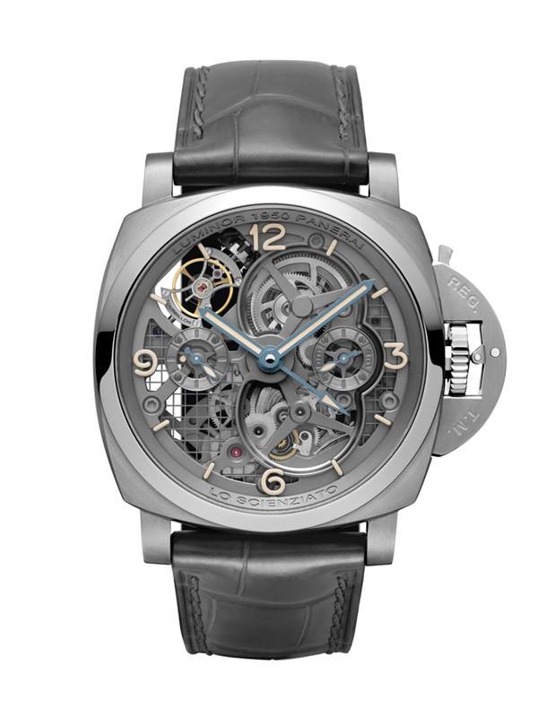 沛纳海全新陀飞轮两地时间钛金属腕表