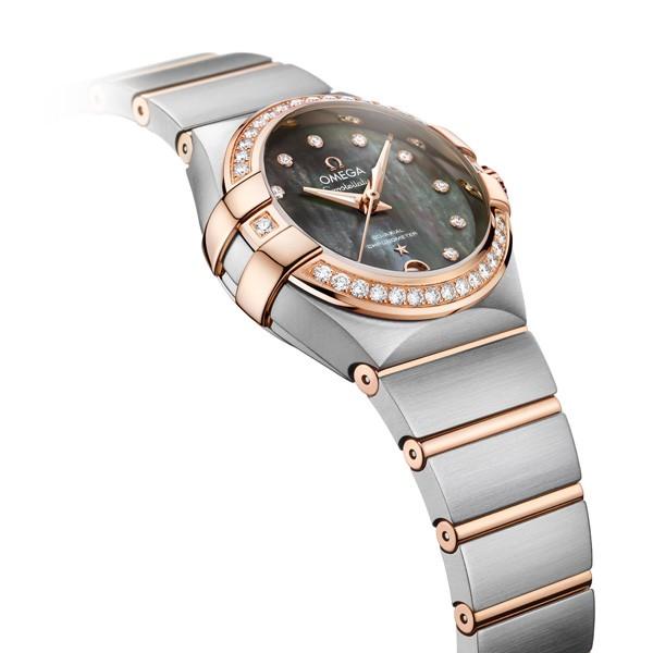 欧米茄星座系列大溪地贝母表盘腕表
