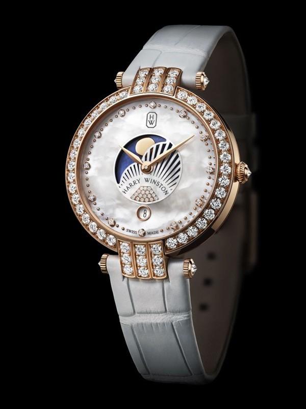 海瑞温斯顿隆重呈献卓时 Premier系列月相功能女装腕表