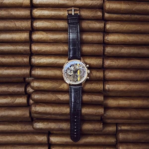 真力时发布高斯巴雪茄50周年特别款腕表
