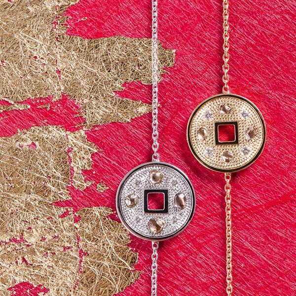 戴比尔斯Talisman Lucky Coins 幸运手链系列,中国地区首发