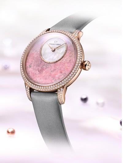 雅克德罗推蔷薇辉石腕表 展现优雅风范