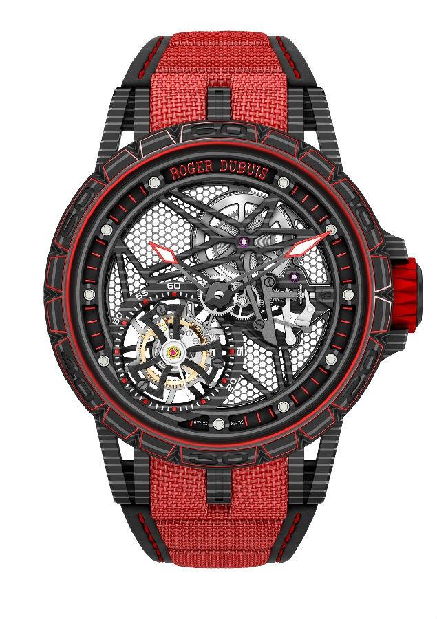 罗杰杜彼蜘蛛镂空概念手表 碳纤维手表技术参数