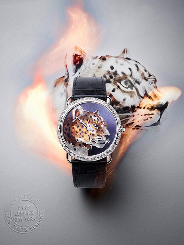 卡地亚Ronde Louis Cartier腕表 精湛迷人的火之艺术